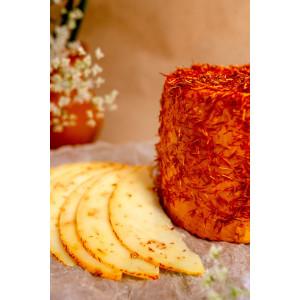 Сир козиний напівтвердий  з шафраном 40,0% жиру в сухій речовині